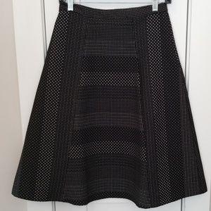 EUC Eva Franco A-Line Midi Skirt with Geo pattern